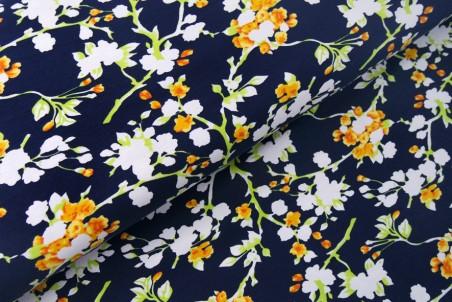 Baumwolljersey - Blütenzweige